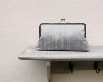 Silver bridal clutch bag, silver wedding clutch, silver bridesmaids clutch, silver evening clutch, gray clutch purse, bridesmaid gift, uk