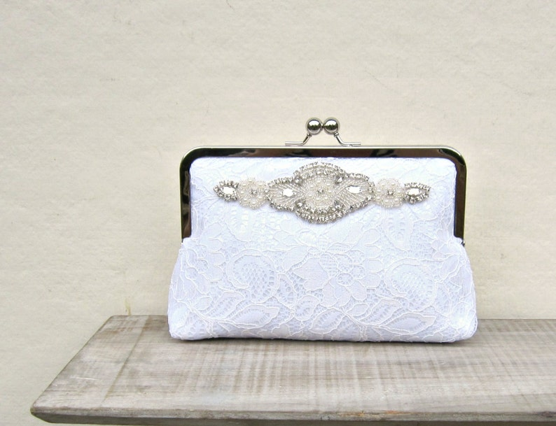 White lace clutch bridal clutch great gatsby wedding pearl  f8a25f092bf0e