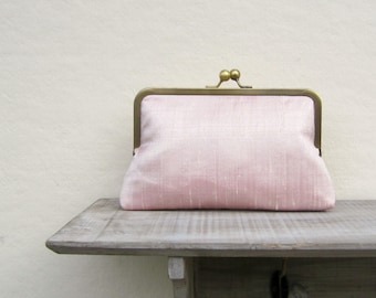 Pink bridal clutch bag, pink wedding clutch, pink bridesmaids clutch, pale pink evening clutch, pink clutch purse, bridesmaid gift, uk
