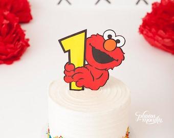 Elmo Smash Birthday Cake Topper