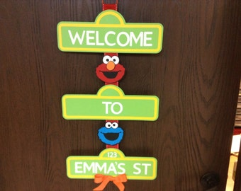 Sesame Street Birthday Sign