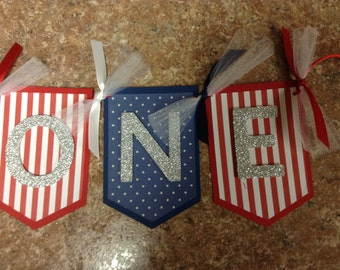 Patriotic/4th of July/Independence  Highchair  Birthday Banner