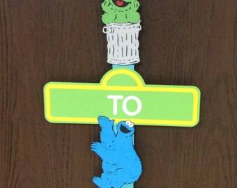 Sesame Street Birthday Sign