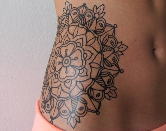 Mandala - Temporary Tattoo - Large