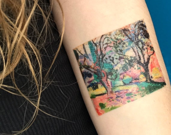 Matisse (Olive Trees at Collioure) - Temporary Tattoo