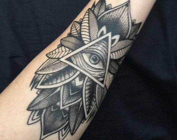 All-Seeing Illuminati Eye - Temporary Tattoo