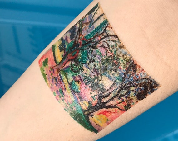 "Matisse Fine Art Temporary Tattoo - ""Olive Trees at Collioure"""