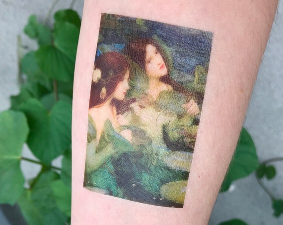 "Fine Art Temporary Tattoo - John William Waterhouse, ""Hylas and the Nymphs"""