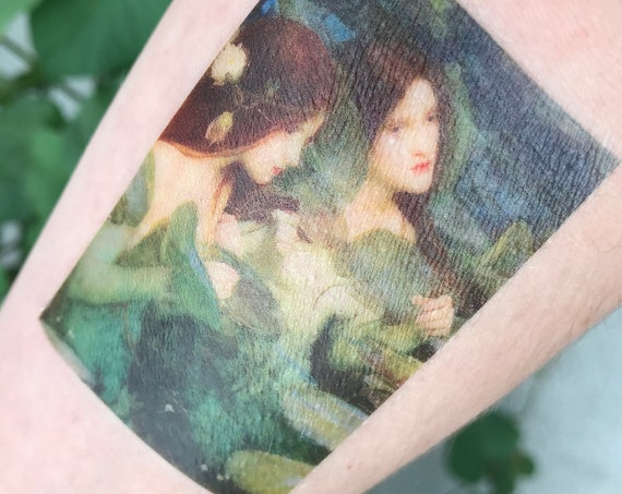 "Fine Art Temporary Tattoo - John William Waterhouse, ""Hylas and the Nymphs"""