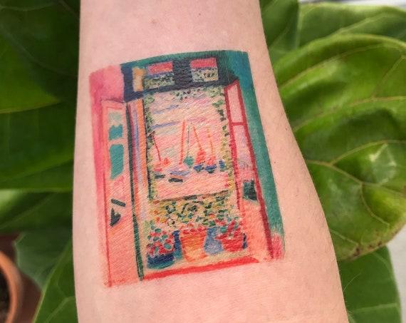 "Matisse Fine Art Temporary Tattoo - ""Open Window at Collioure"""