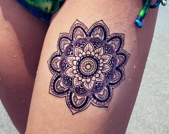 Mandala - Temporary Tattoo - Medium