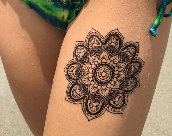 Mandala - Temporary Tattoo - Medium