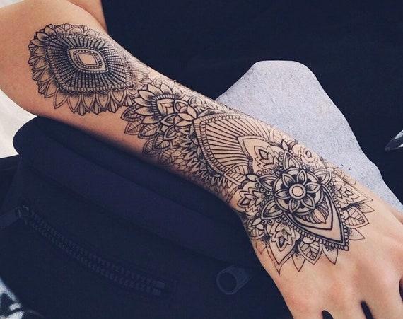 Mandala Sleeve - Temporary Tattoo - Extra Large