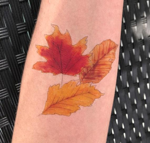 Fall Leaves - Temporary Tattoo
