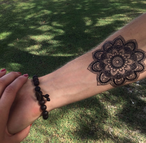 Large Ornate Mandala Temporary Tattoo