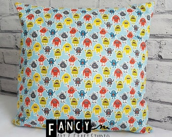 Monsters cushion, kids room decor, cute monster