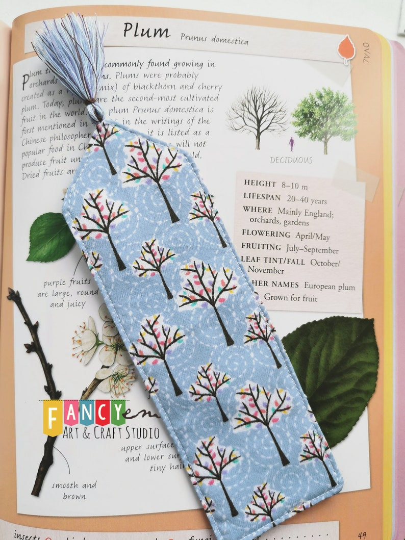 Beautiful trees printed bookmark, bookish, book club, for reader, classic  bookmark, trees lover, tree hugger,