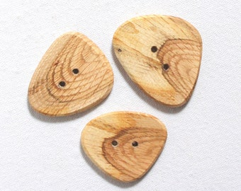 2 Button. Pixie or woodland fairy dress button Large wooden button Tree branch slice Oak button