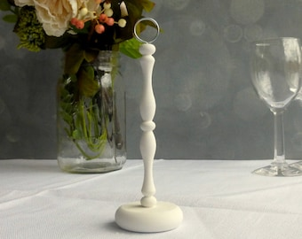 White Table Number Stand/ Wedding Table Number Holder, Make Your Own/ DIY Table Numbers/ Guest Table, Guest Seating