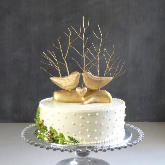 Goldene Hochzeit Topper Gold Cake Topper Baum Hochzeit Etsy