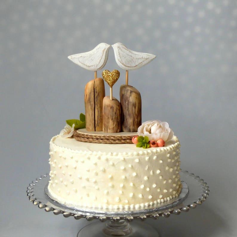 Beachy Wedding Cake Topper Or Table Decoration Beach Wedding Etsy