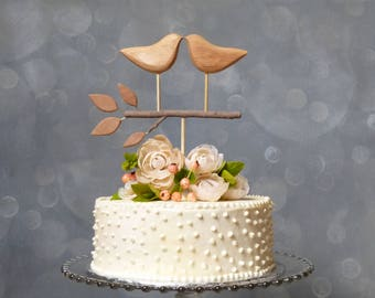 Wooden Cake Topper, Love Bird Topper for your Wedding Cake, Wood Topper, Wedding Keepsake/ Bridal Gift