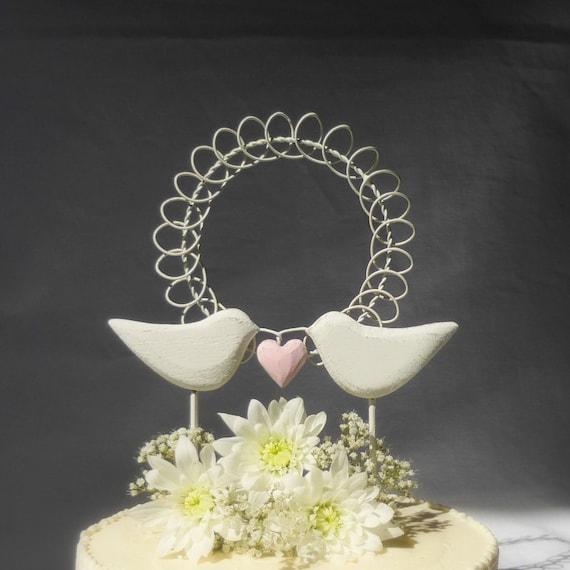 Love Birds Wedding Cake Topper Bird Cake Topper Rustic   Etsy