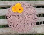 Brown crochet doily tablecloth, cotton doilies, crochet placemats, crocheted doilies, crochet doily napkin, cloth doilies, round table cloth