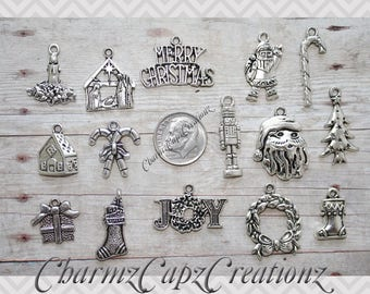 Bails Rings 12pc Realtor//Real Estate Charm Set Lot Collection Lobster Clasps