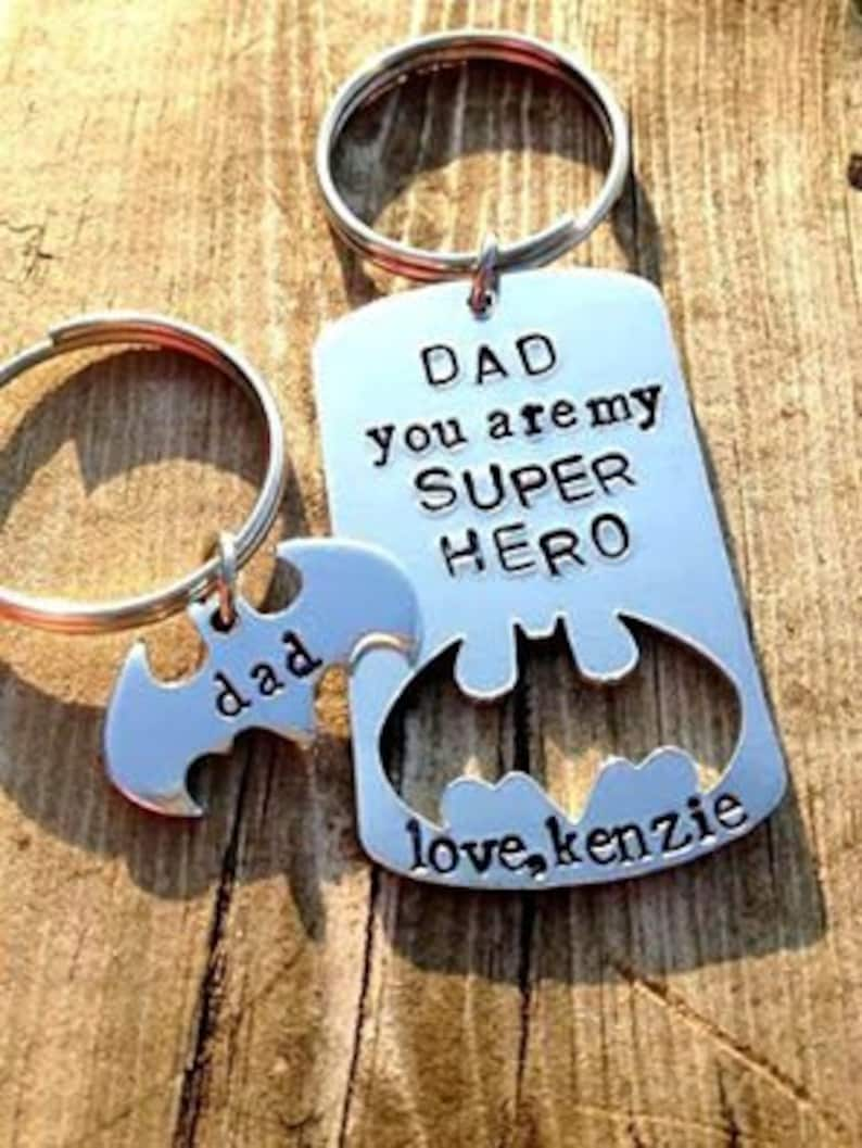 Super Hero Keychain Christmas For Dad Husband Birthday Gift