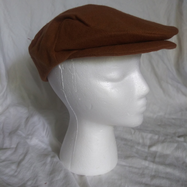 99535a49 Handmade Flat Cap Rust Driving Cap Newsboy Cap Real | Etsy