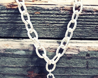 Anchor Necklace. Big anchor charm. Nautical necklace.