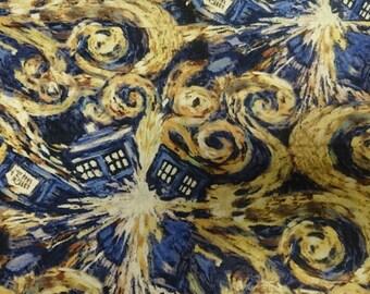 Doctor Who Van Gogh Exploding Tardis Fabric