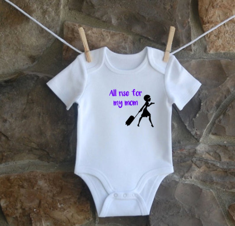 reporter baby gift Court reporter baby Baby gift My mom know how to stroke court baby all rise reporter baby one-piece
