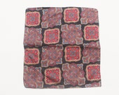 80 39 s Vintage quot PRINCE quot Fancy Patterned 100 Silk Pocket Square
