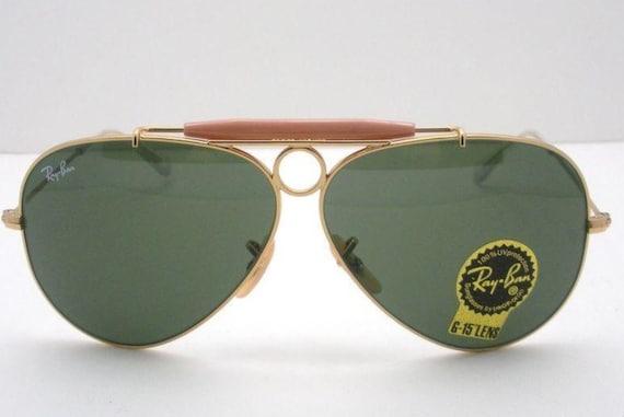 90   s rare RAY BAN Aviator lunettes de soleil Vintage   Etsy d13f9ef56b23