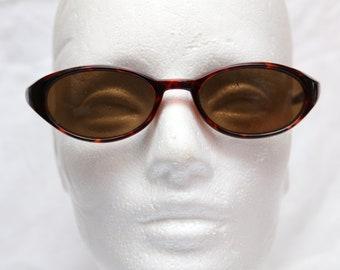 "90's Vintage ""KITTY"" Leopard Large Oval Cat Eye Sunglasses"