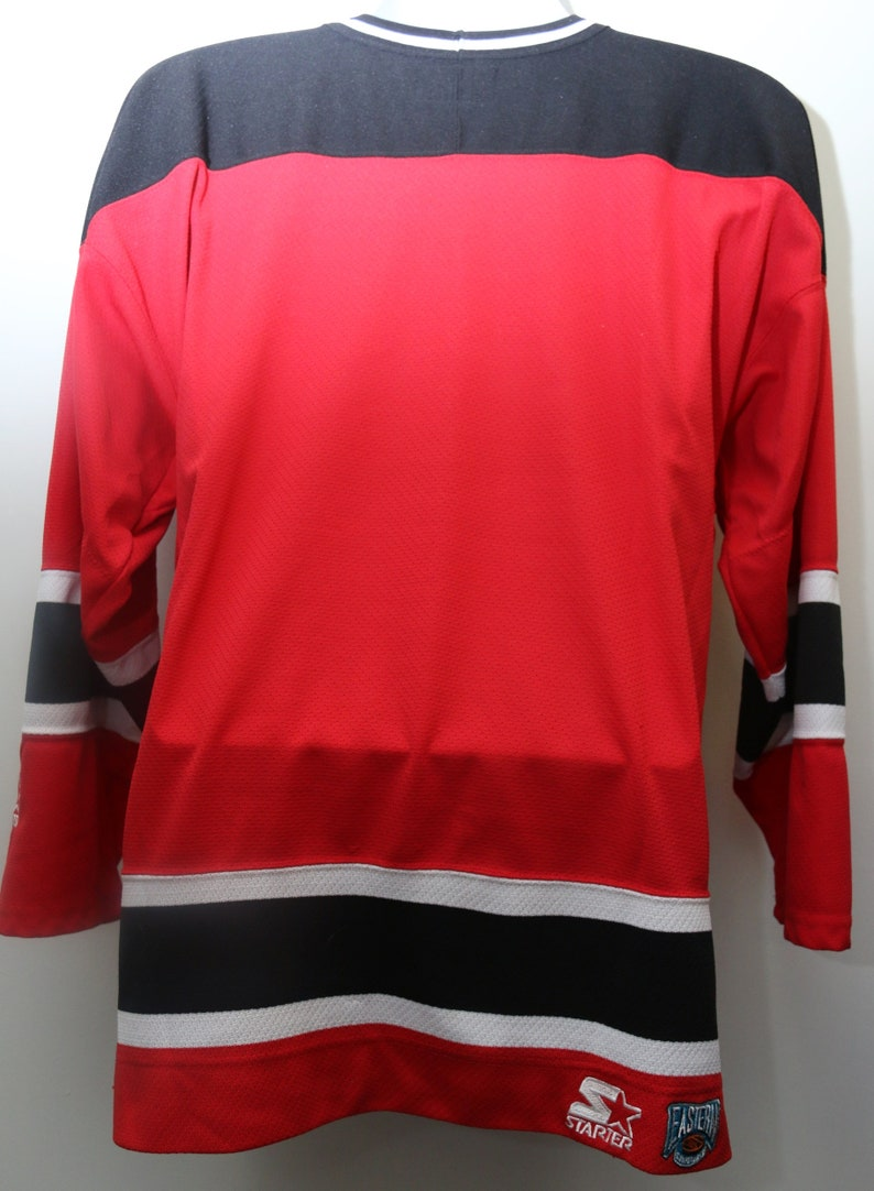 Men/'s Exclusive Rare 90/'s Vintage Starter NEW JERSEY DEVILS Hockey Jersey Sz Medium