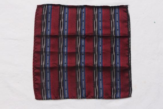80/'s Vintage BRETT Fancy Patterned Pocket Square