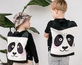 Panda backpack, kids backpack, printed toddler backpack, bear backpack