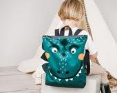 Dinosaur large backpack for kids, Kids backpack, Children backpack, Printed backpack