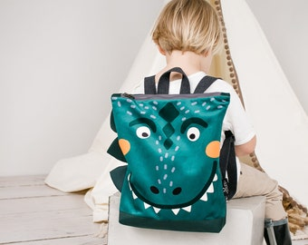 Dinosaur large backpack for kids, Kids backpack, Children backpack, Printed backpack