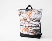 "Waterproof backpack, Printed ""Rock"" design, 13"" laptop backpack"
