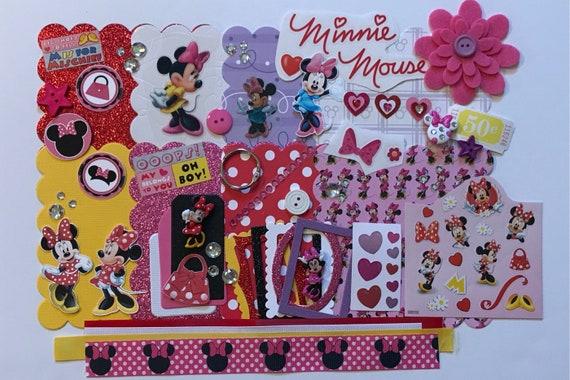 Disney Minnie Mouse Custom Chipboard Mini Book Album Diy Kit Etsy
