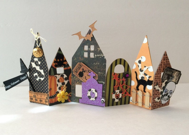 Spooky Halloween Haunted Houses Home Decor Project Class KIT Craft  Papercrafting