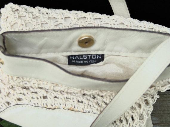 Vintage Halston Macramé Shoulder Bag, a 1970s Stu… - image 2