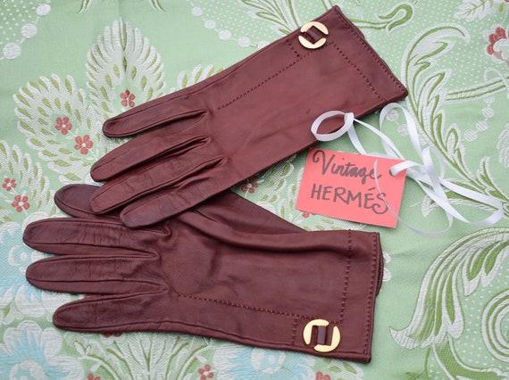 Vintage 1970s Hermés Gloves -- Gorgeous!