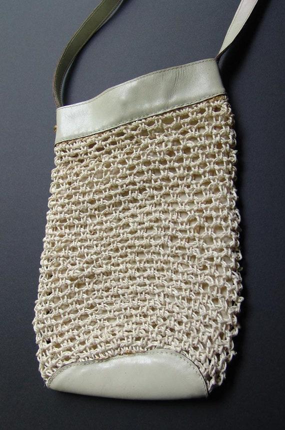 Vintage Halston Macramé Shoulder Bag, a 1970s Stu… - image 3