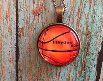 Pendant Jewelry Necklace, Custom Basketball Necklace, Basketball Mom Pendant