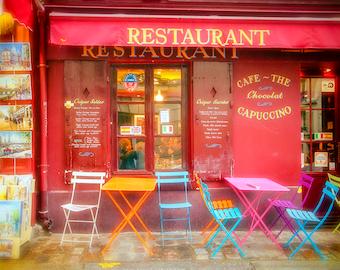 Paris Cafe Picture, Montmartre Cafe, Paris Wall Art, Paris Art Print, Travel Wall Art, Kitchen Wall Decor, Kitchen Wall Art, France Wall Art